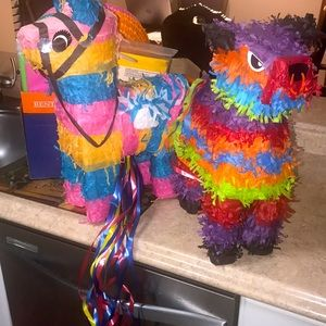 Brand new Party supplies and 2 piñatas
